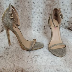 Gold and Silver JustFab Stilettos